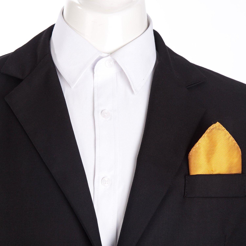 DonDon Pañuelos de bolsillo hombre de 21 x 21 cm para ocasiones ...