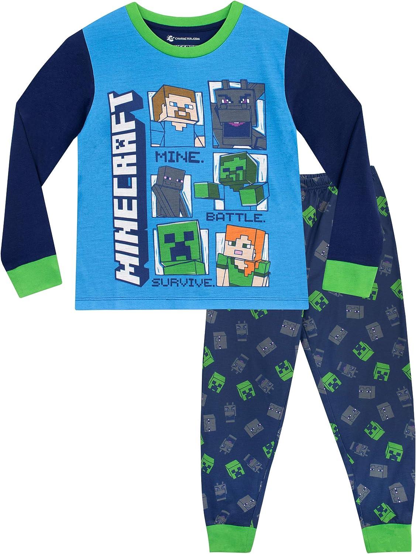 Vanilla Underground Minecraft Steve e del Creeper Long Sleeve Boy Blue Pajama Set Bambini Sleepwear