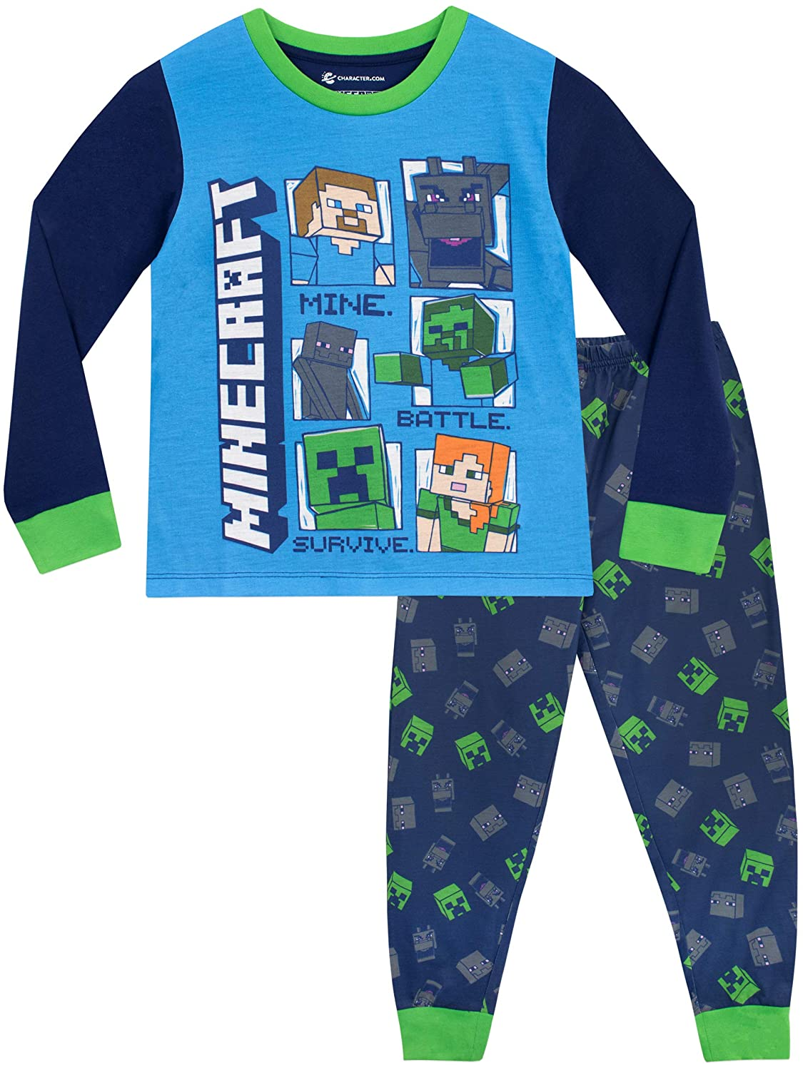 Minecraft Boys Pyjamas Steve & Creeper