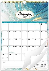2021 Calendar - Monthly Wall Calendar Planner from Jan 2021 - Dec 2021, 12