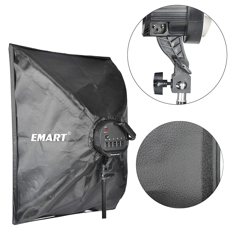 Emart Softbox Photography Lighting Kit,2250 Watt Continute Lighting Photo Studio Softbox 20'' x 28'', 10pcs E27 Video Lighting Bulb by EMART (Image #4)