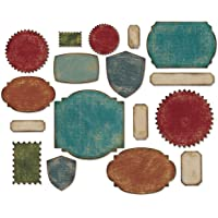 Sizzix Labels Thinlits Troqueles por Tim Holtz, Paquete de 17