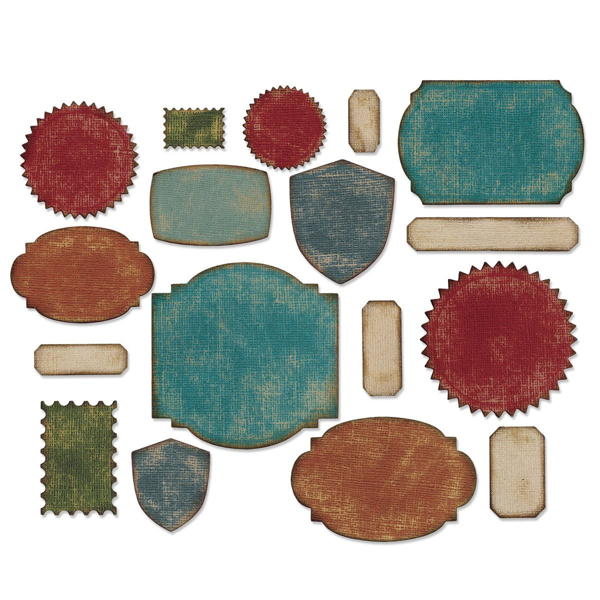 Thinlits Die Set, Labels by Tim Holtz, 17 Pack Ellison 660060