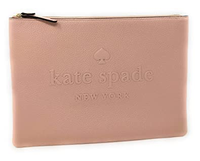 314898628 Amazon.com: Kate Spade Gia Large Pouch Clutch Bag Leather Logo Embossed  Cosmetic Travel Clutch Bag: Shoes
