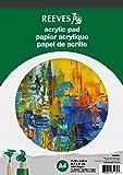Reeves A4 Bloc de 15 Feuilles de Papier Acrylique