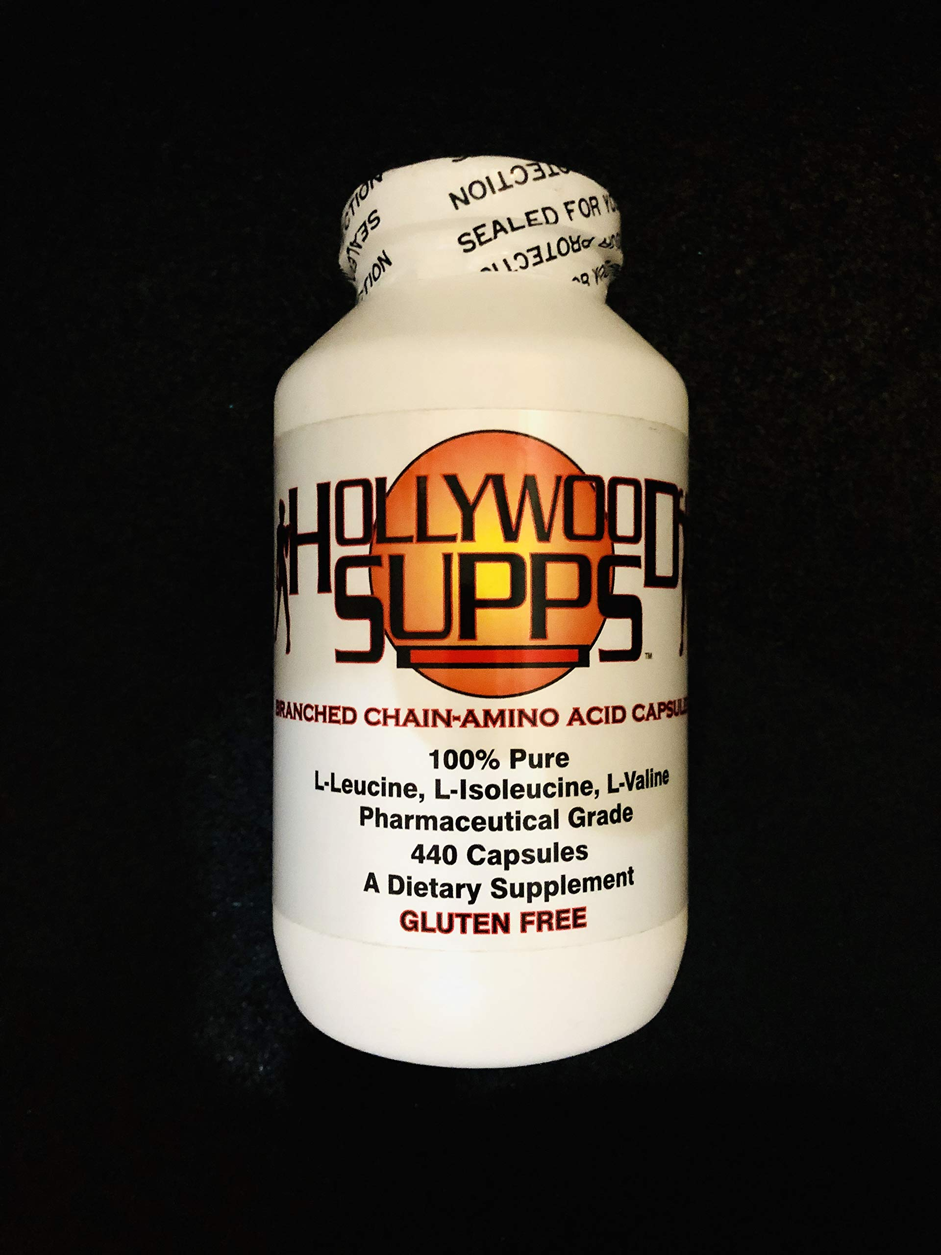 Hollywood Supps BCAA Capsules 100% Pure 3200mg Made in The USA
