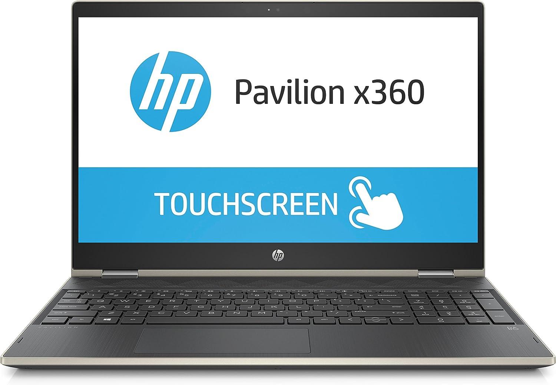 HP Pavilion 15-cr0053wm X360 Touch Convertible Laptop, Intel Core i5-8250U Processor; 4GB SDRAM Memory, 16GB Intel Optane Memory, 1TB Hard Drive, Pale Gold