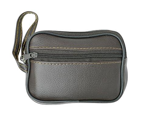 f762e4c89da9 Amazon.com  Top Double Zipper Coin Change Purse New (Brown)  Shoes