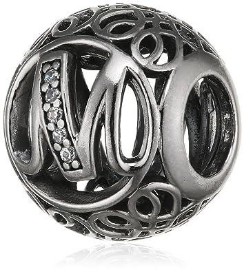 1265055b7 Pandora Women's Vintage M Charm - 925 Sterling Silver, 791857CZ ...