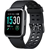 Arbily Smart Watches 2019 Version, Smartwatch with Heart Rate Monitor Smart Watches for Android iOS Phone,Activity Tracking,Sleep Monitoring,Sport Watch Fitness Tracker for Women Men,Black