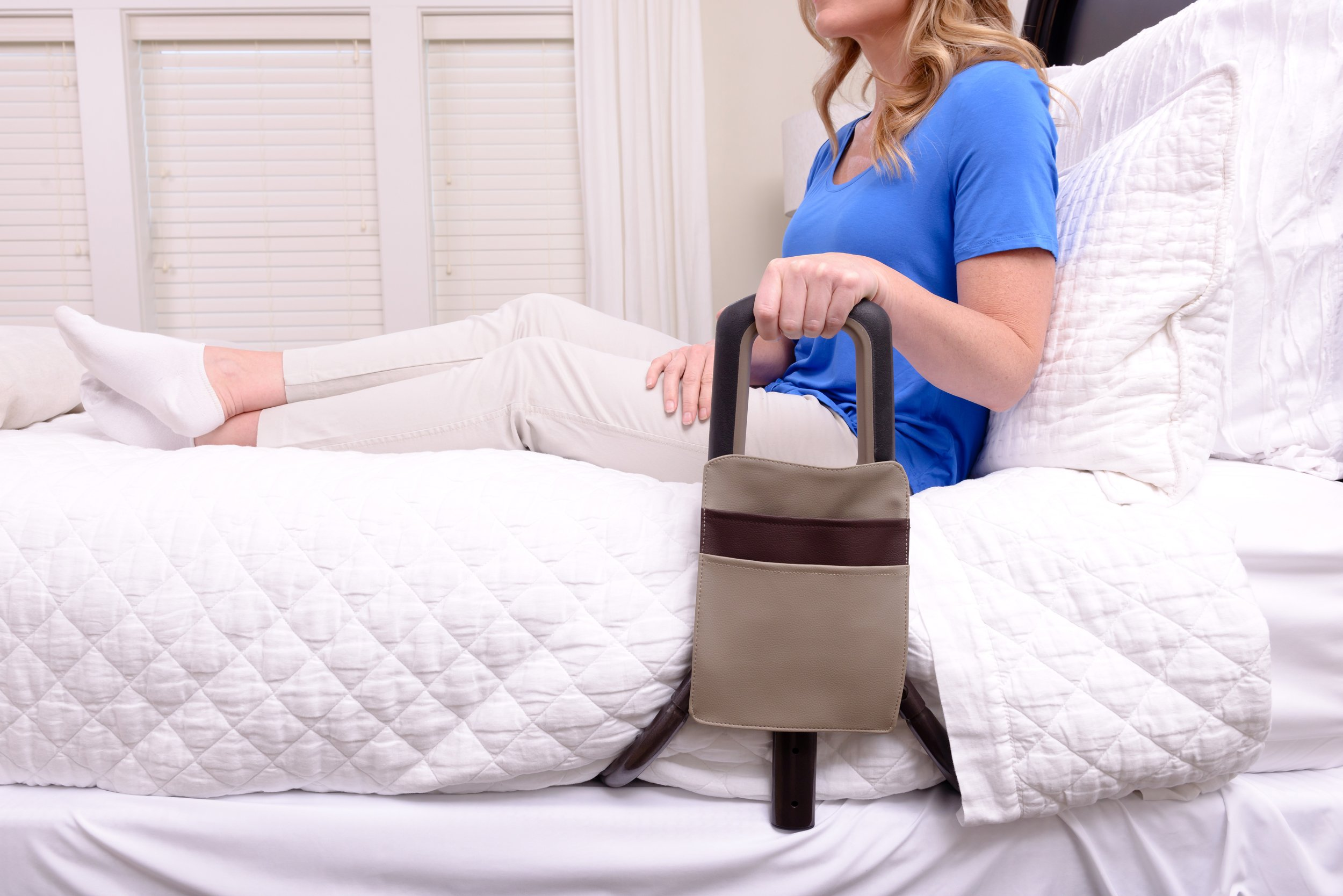 Signature Life Confidence Bed Handle - Elderly Safety Bed Rail & Mobility Support Cane + Organizer Pouch by Signature Life (Image #7)
