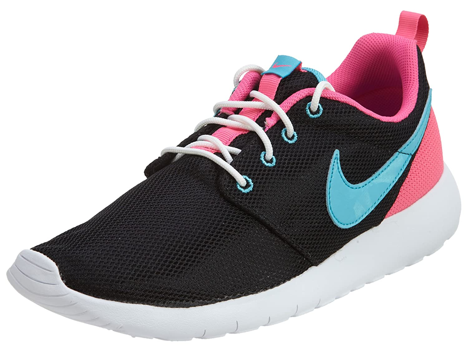 e7665735824b Nike Roshe ONE Sneakers (GS) 599729-009 Black Sport Fuchsia  White 5. 5 Big  Kid M  Buy Online at Low Prices in India - Amazon.in