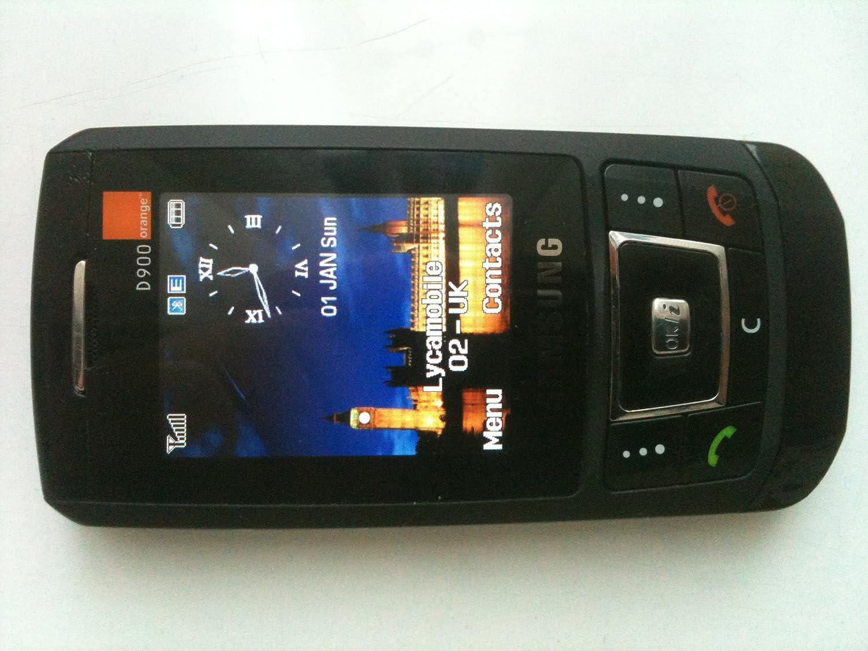 Samsung D900 - Black - Unlocked/Sim Free Mobile Phone - 3 megapixel camera:  Amazon.co.uk: Electronics