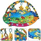 Alfombrilla sensitiva para bebé – Alfombrilla de temática animal con arcos y juguetes educativos