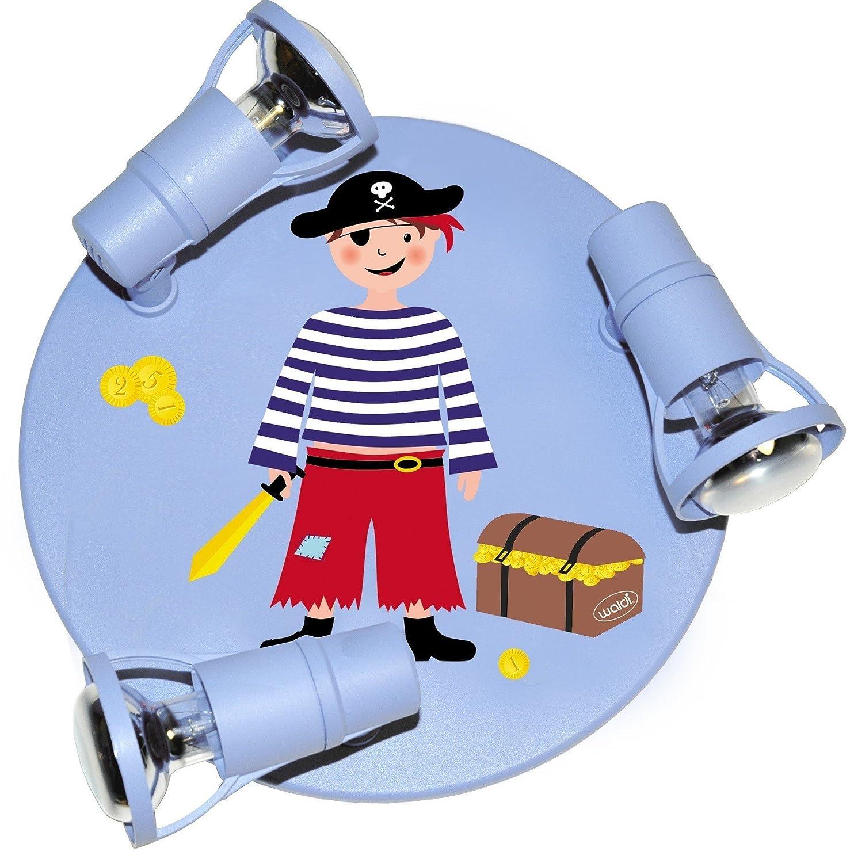 Waldi Leuchten Deckenstrahler Pirat Round Mit Mit Mit Truhe Hellblau, Blau, Kunststoff  Holz, 65222.0 4dbcea