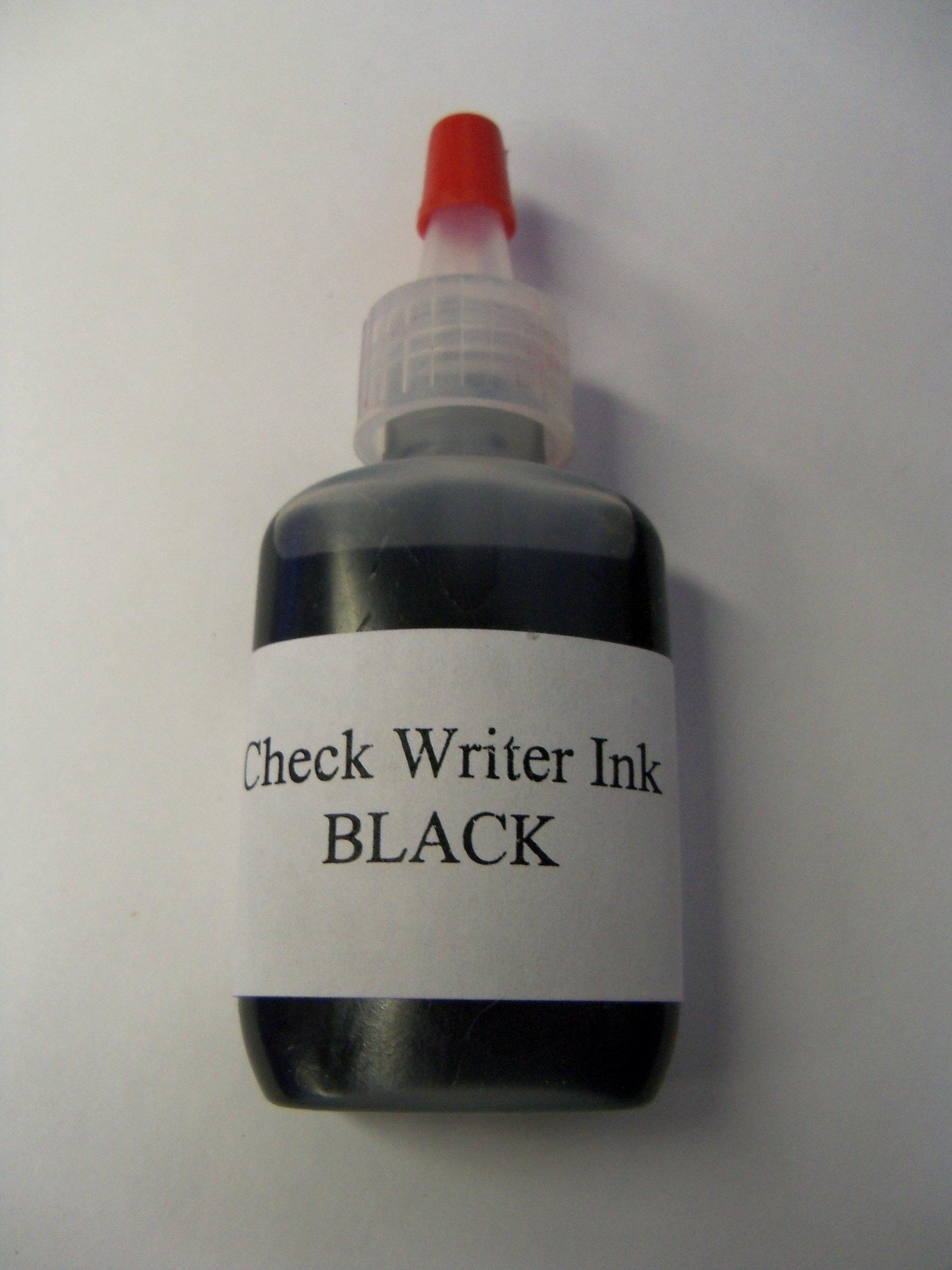Paymaster or Hedman Check Wrter & Check Protector Ink - BLACK