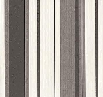 Tapete Vlies P S 13329 30 Streifen Schwarz Grau Weiss Amazon De