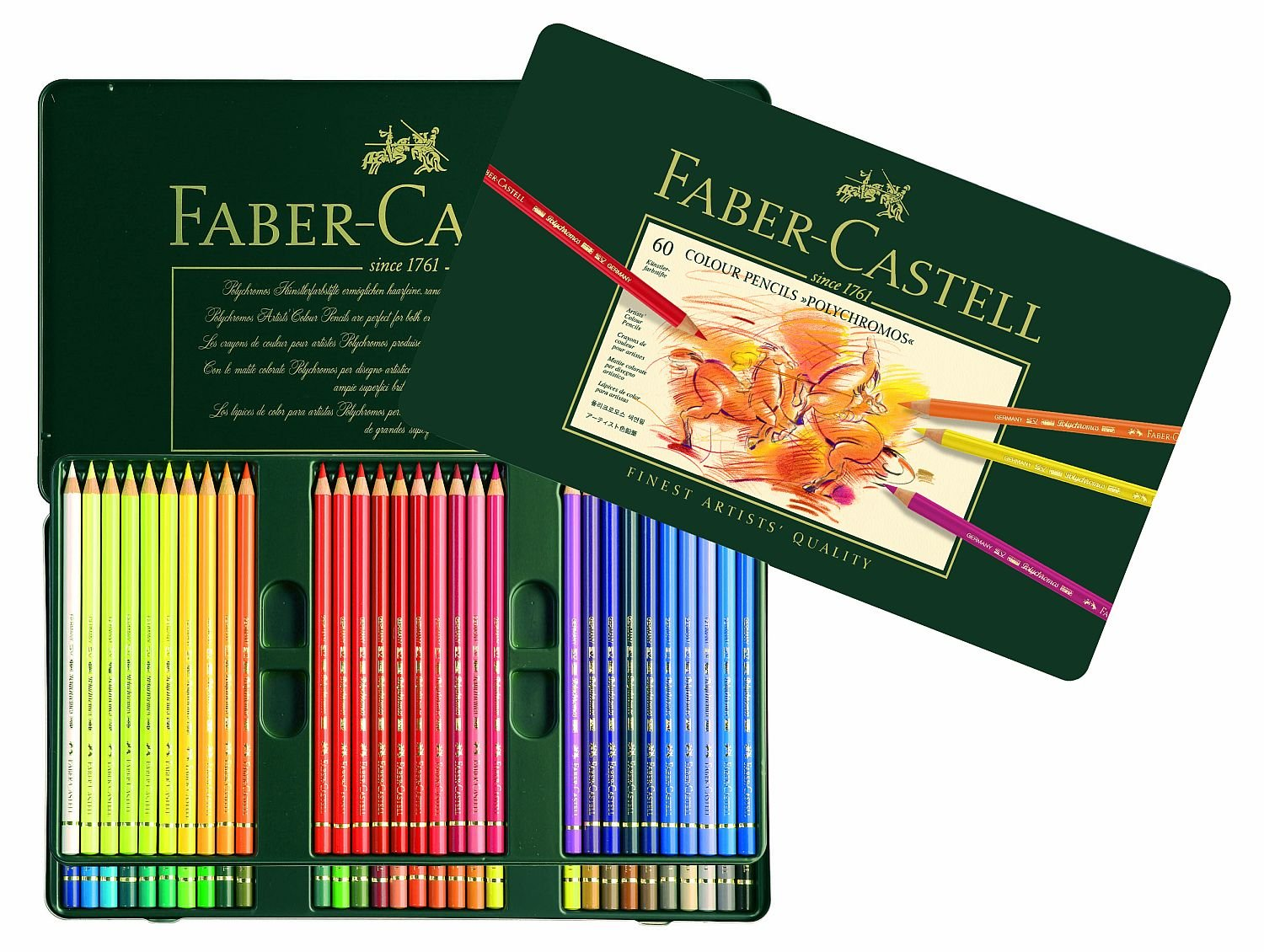 Amazon.com: Faber-Castel 110060 Polychromos Colored Pencil Set In ...