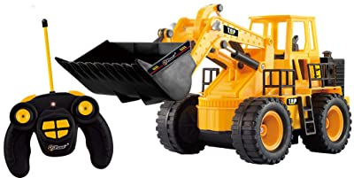 Top Race TR-113 5 Channel Full Functional Front Loader, Electric RC Remote Control Construction Tractor