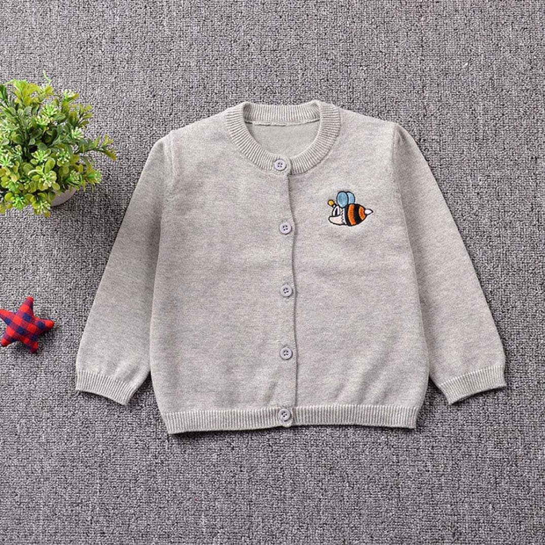 Palarn 3 Types Toddler Sweater Cardigan Boys/&Girls Knitted Solid Tops