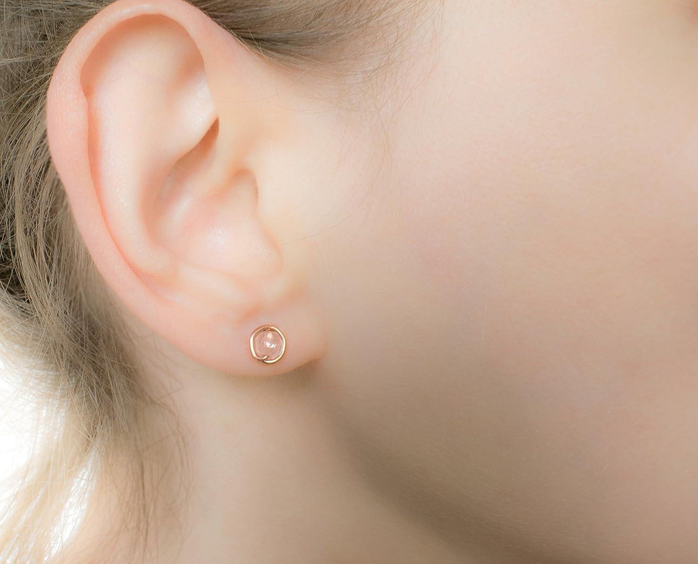 Rose quartz earrings!