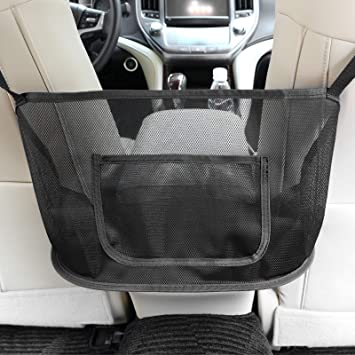 Handbag Holder for Car Purse Storage /& Pocket Seat Storage Mesh Organizer Car Net Pocket Handbag Holder,3-Layer Car Mesh Organizer Seat Back Net Bag Black