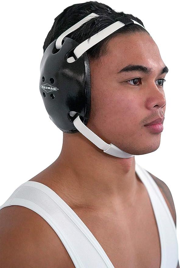 Matman Ultra Soft Adult Earguard Wrestling Headgear MPN 35 Black OSFM for sale online