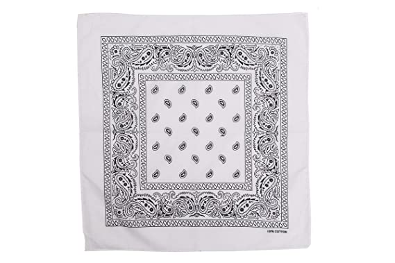 499568fb9fc2 shenky - Foulard bandana - 100% coton - motif paisley  Amazon.fr ...