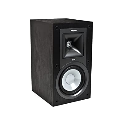 Klipsch KB-15 Icon 5-1/4-Inch 2-Way Bookshelf Speakers (Black Ash, Set of 2)