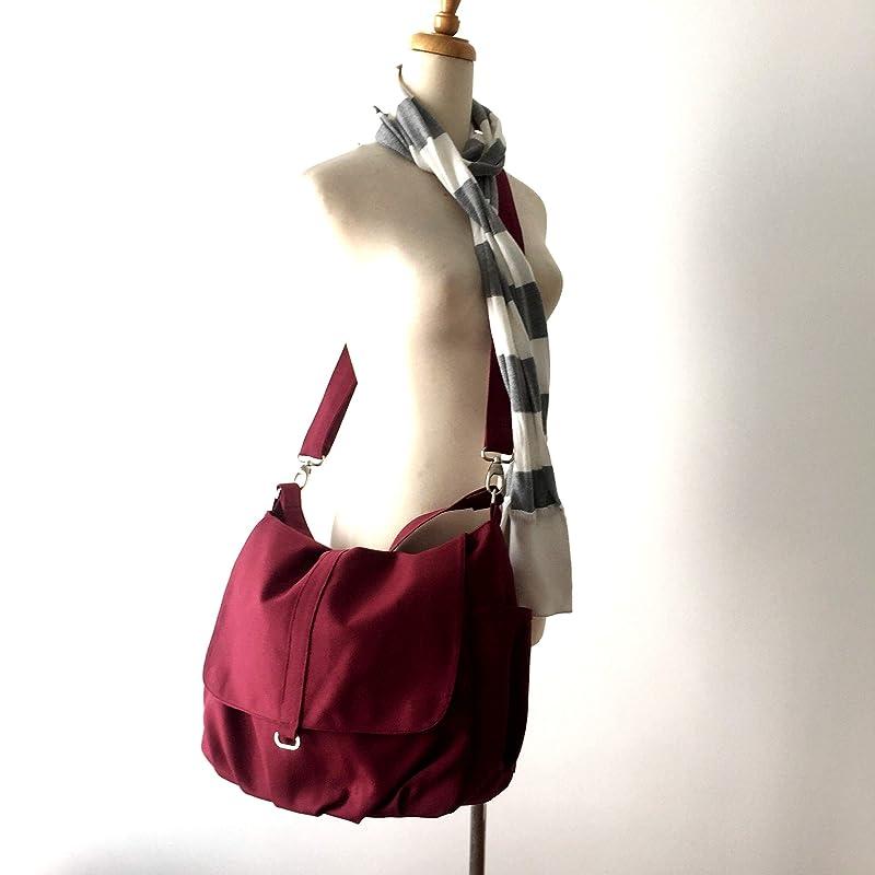 DWR Gift for her Canvas Messenger Diaper Bag Zipper Travel Bag For Women- no.18 DANIEL Rose Gold Water Resistant Hobo Bag
