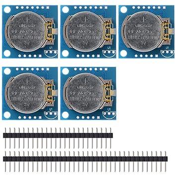 XCSOURCE® 5PCS Módulo Reloj Tiempo Real I2C RTC DS1307 AT24C32 Junta para Arduino TE187: Amazon.es: Electrónica