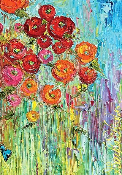 Amazon.Com : Toland Home Garden Fabulous Flowers 28 X 40 Inch