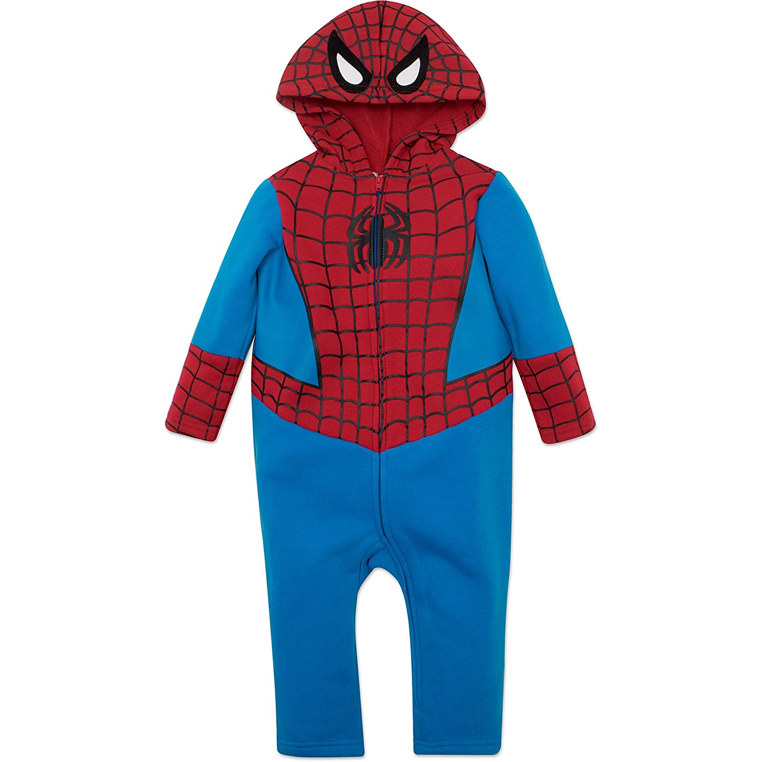 Spiderman Baby Coverall with Hood
