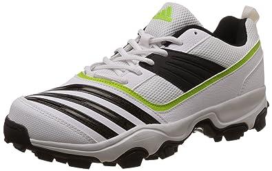 adidas männer alleskönner macht 1 weiß, schwarz und gelb cricket