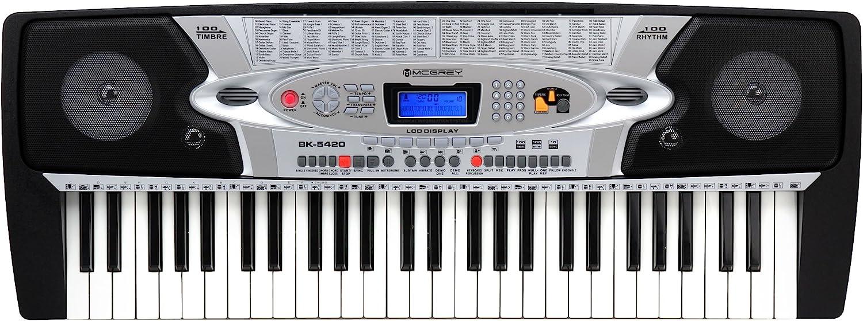 McGrey BK-5420 - Teclado con 54 teclas, micrófono y soporte para notas