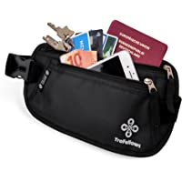 Premium Travel Waist Bag with RFID protection for Women & Men | Light Money Belt | Hip Pouch for Sports & Trips | Flat & spacious Belt Bag