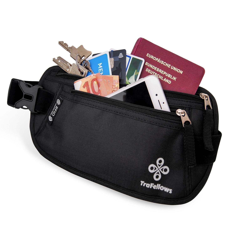 Sac banane femme homme   Ceinture cache billet   Pochette ceinture pour  voyage   sport   Sacoche anti-vol avec protection RFID - protégez argent,  papiers, ... 1f0e7d96c2a