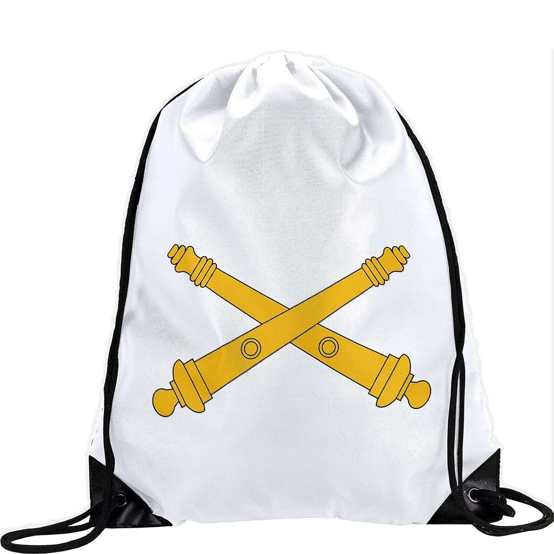 Large Drawstring bag with US Armyフィールド砲、ブランチInsignia – Long Lasting鮮やかなイメージ B01AYF3SK4