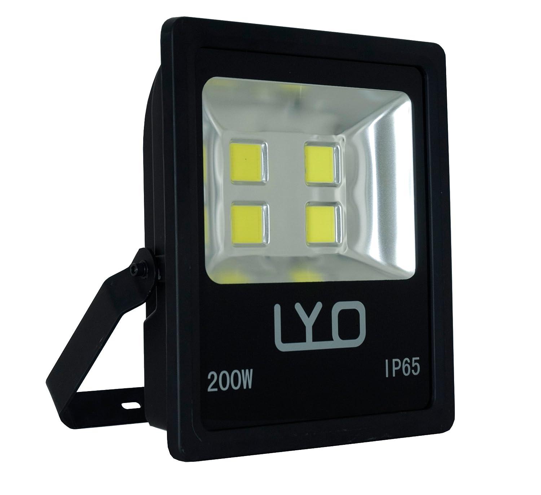 LYO Projector Slimline LED COB Integrated, 200W, Black, 44.5x 37.5x 12cm