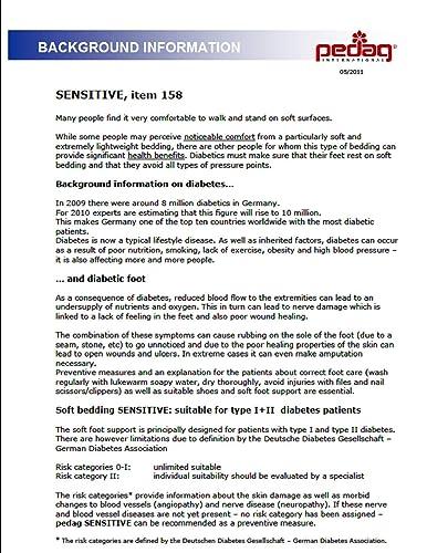 Pedag Sensitive plantilla suave para diabéticos, reumáticos y pies sensibles - no dado, 45