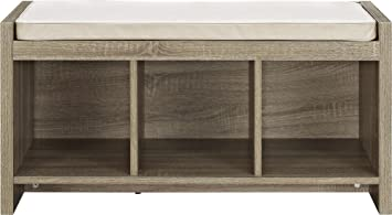 altra penelope entryway storage bench with cushion sonoma oak