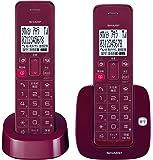 シャープ デジタルコードレス留守番電話機 子機1台付き 1.9GHz DECT準拠方式 レッド系 JD-S07CW-R