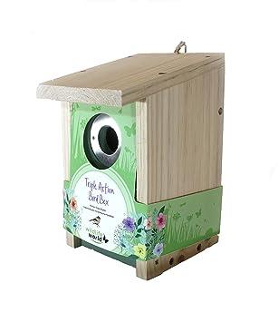 Three Birdhouse Bird Nest Breeding Box Wildlife World Pet Supplies Other Bird Supplies