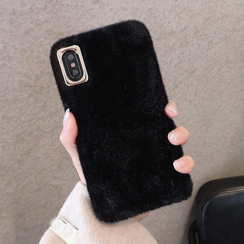 King phone Peluche Coque pour Wiko Y80 Étui de Protection Cheveux Artificiels Hiver Chaud Souple Poilu Motif Doux Silicone Filles Belle Duveteux ...