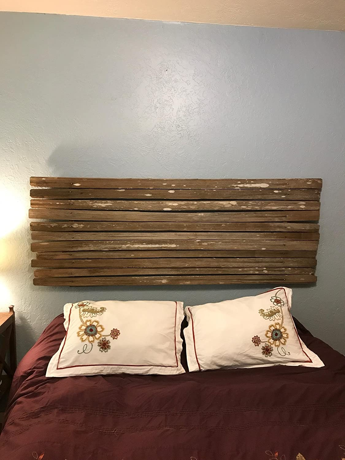 Amazon.com: Garden Gate Queen Headboard - Rustic, reclaimed, shabby ...