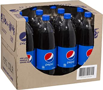 Pepsi Cola Soft Drink, 12 x 1.25L