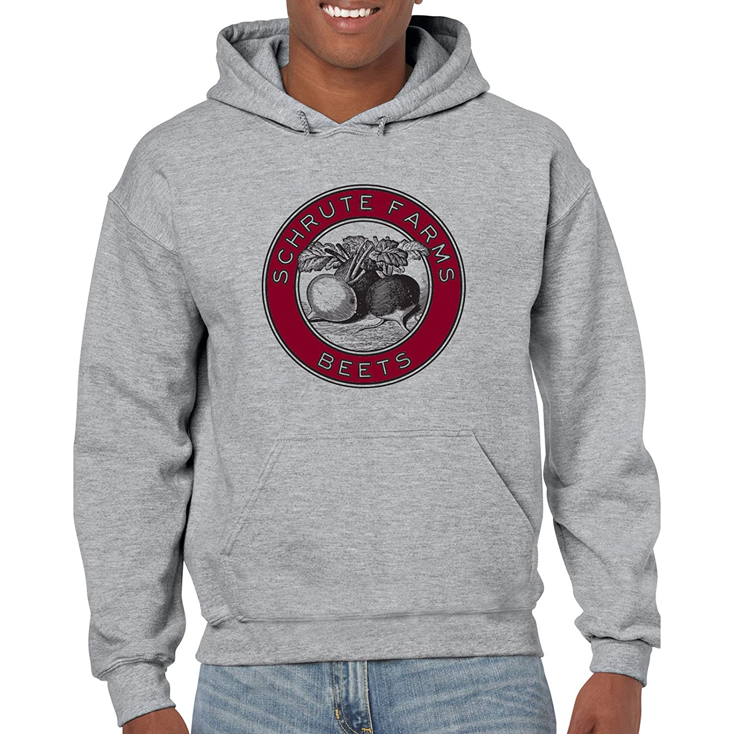 f1ce073f47e6 Amazon.com  UGP Campus Apparel Schrute Farms Beets - Funny TV Show Hoodie   Clothing