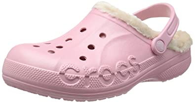 Crocs Unisex Baya Heathered Lined Clog Pearl Pink/Stucco Clog/Mule Men's 9,