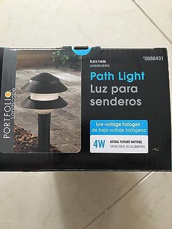 Amazon.com : Portfolio Landscape Low Voltage Path Light 4W Black : Garden & Outdoor