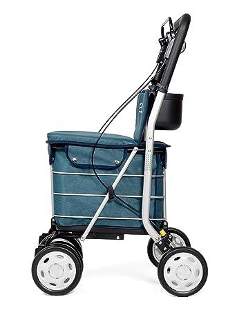 Carlett Carro DE LA Compra Lett 800 Green Textured Asiento, Aluminio, Verde Turquesa, 92
